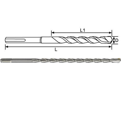 SDS Plus Hammer Drill Bits with Slot Tip
