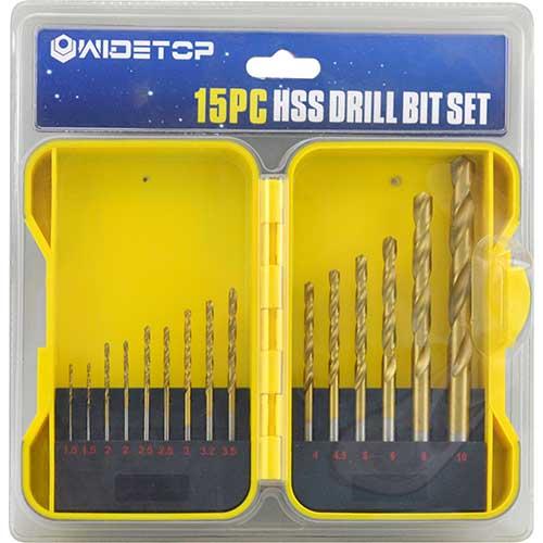 WD51115-15PCS Twist Drill Bits Set