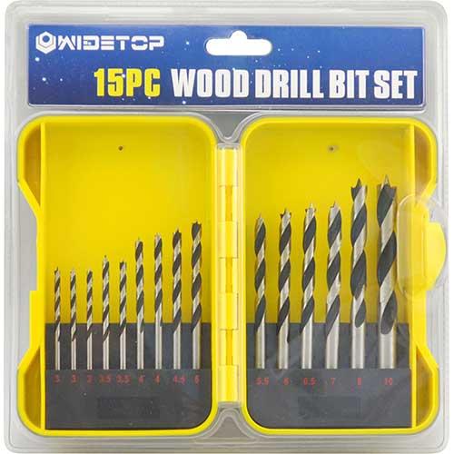 WD53315-15PCS Brad Point Drill Bits Set